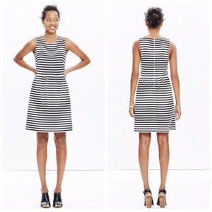 Madewell Striped Sleeveless Afternoon Dress